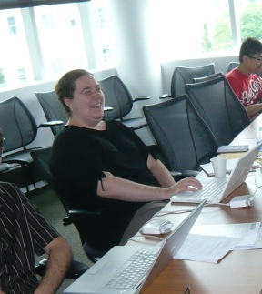Isabelle Paris pictured here hard at work as a collaboration meeting in Pittsburgh in July 2010.
